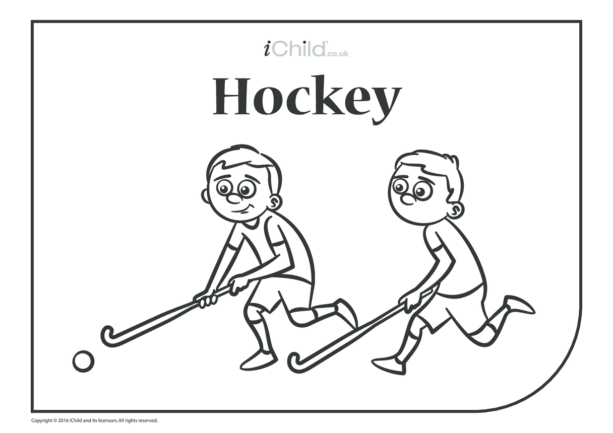 Hockey Colouring in Picture