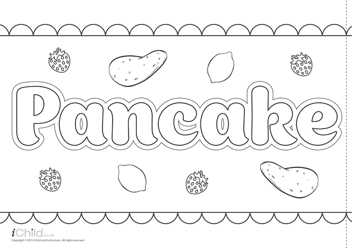 Thumbnail image for the Pancake Day Banner activity.