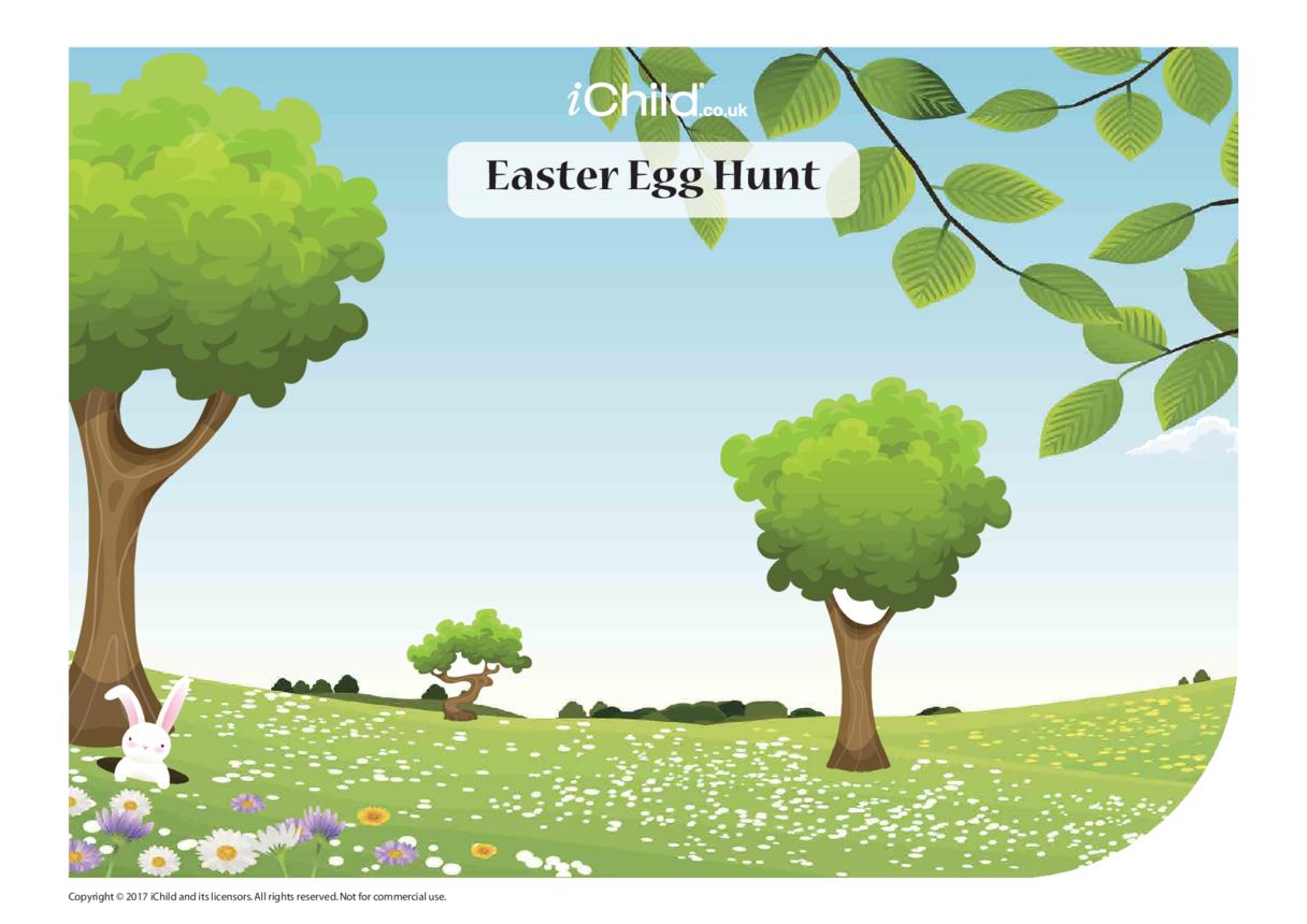 Easter Egg Hunt Sticker Scene