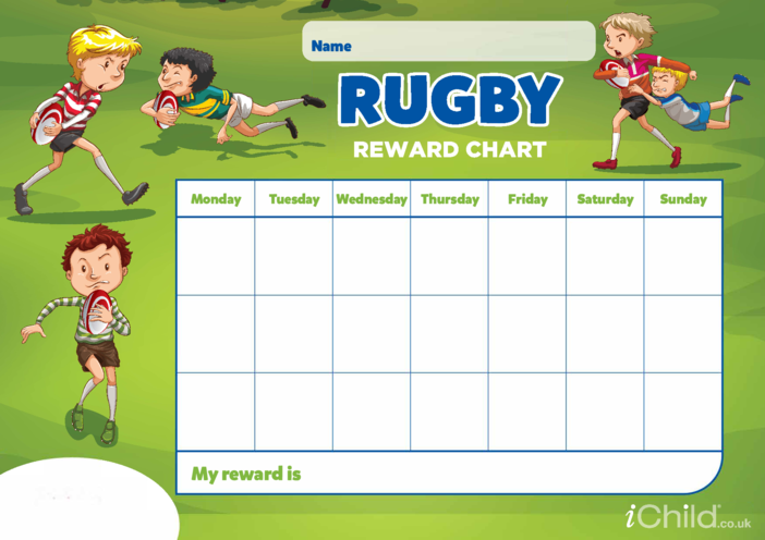 Thumbnail image for the Rugby Reward Chart activity.