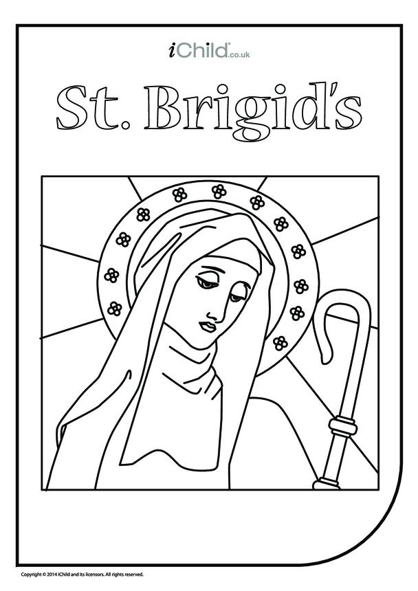 St. Brigid Colouring in Picture