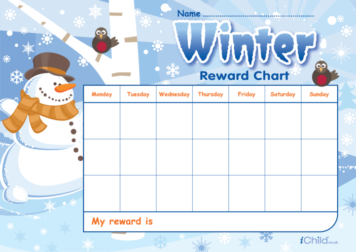 Thumbnail image for the Winter Reward Chart activity.