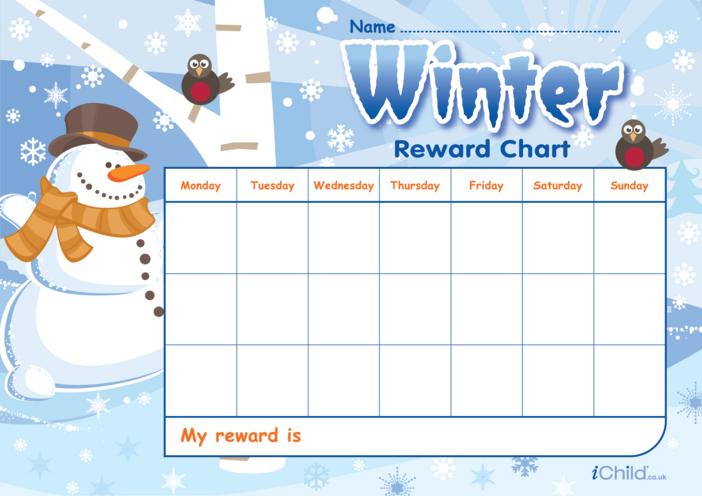 Thumbnail image for the Winter Reward Chart activity.