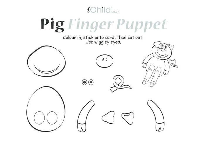 Thumbnail image for the Pig Finger Puppet activity.