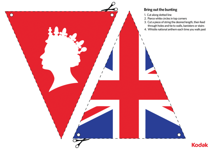 Thumbnail image for the Kodak Queen's Birthday Bunting activity.