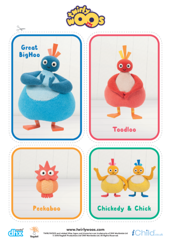 Thumbnail image for the Twirlywoos & Peekaboo Cut-out activity.