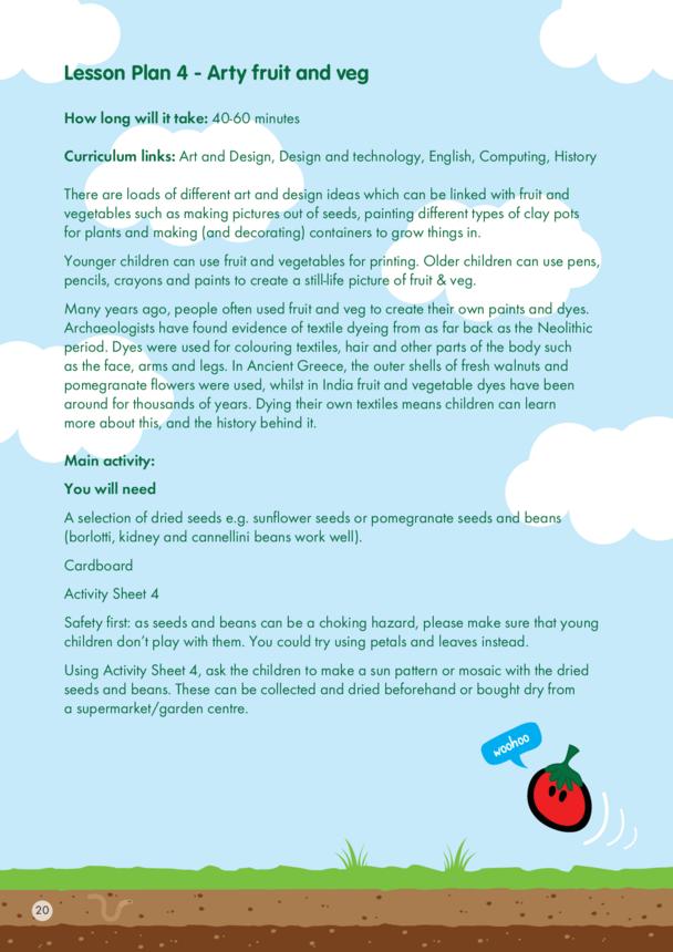 innocent - Lesson Plan 4 - Arty fruit and veg