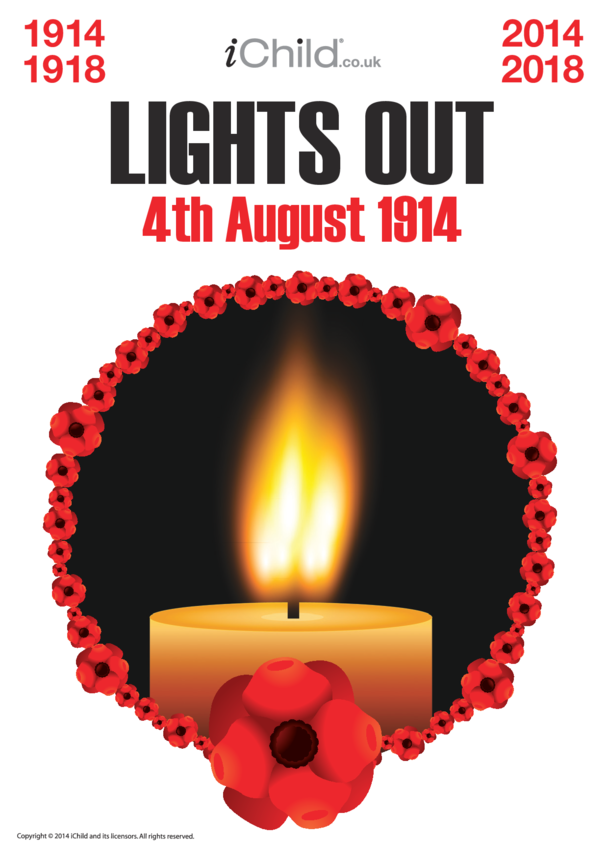 First World War Centenary Lights Out Poster
