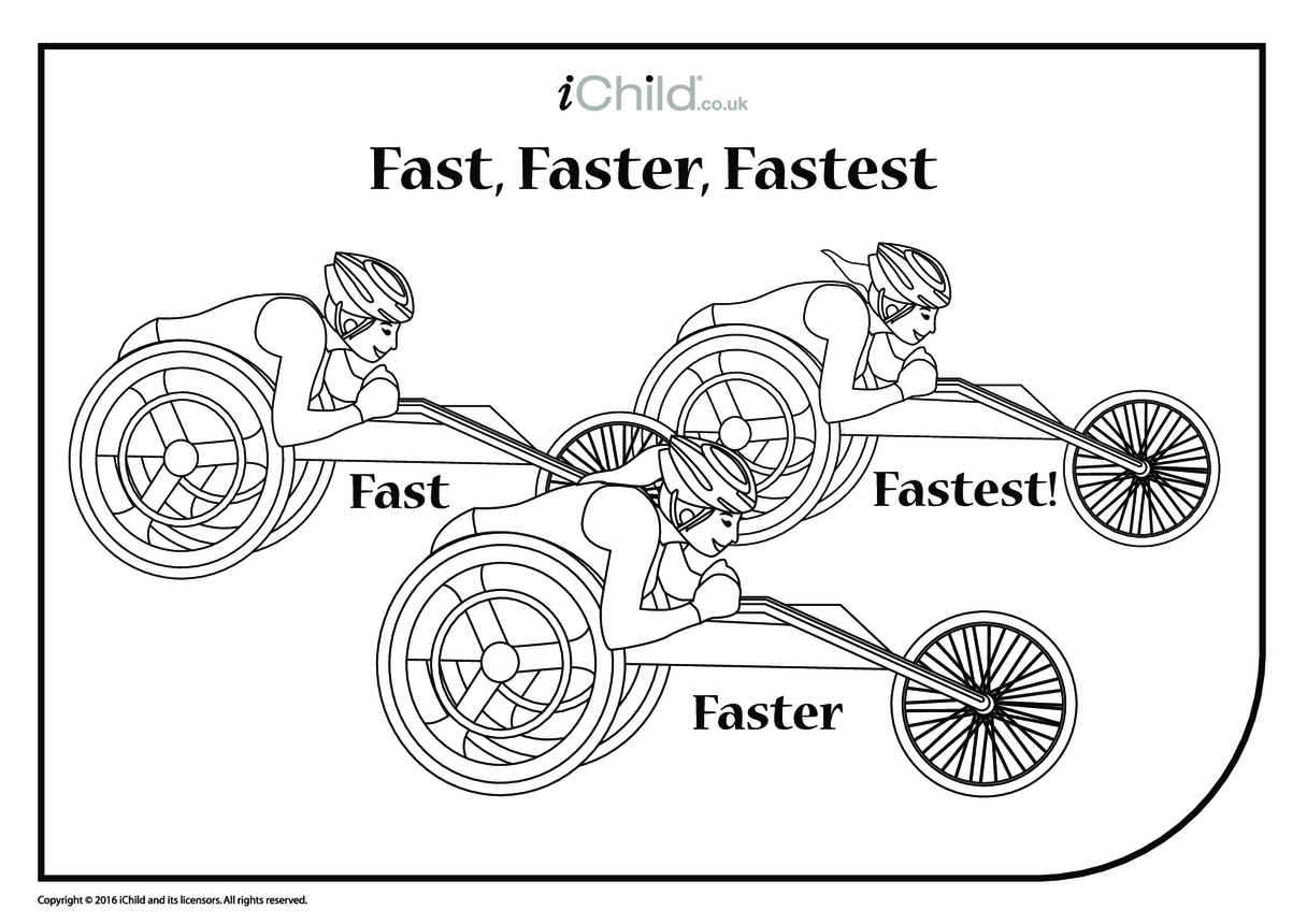 Fast, Faster, Fastest Wheelchair Race