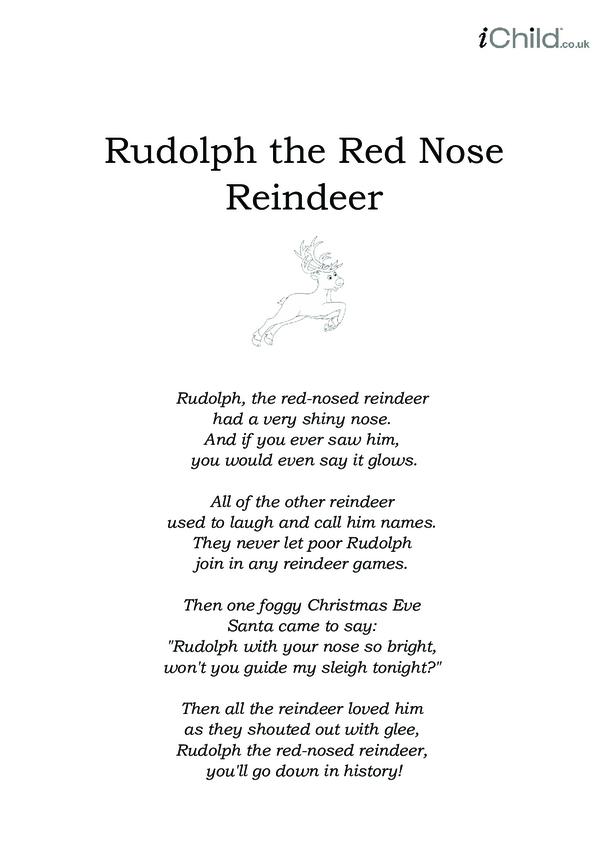 Christmas Carol Lyrics: Rudolph The Red Nosed Reindeer