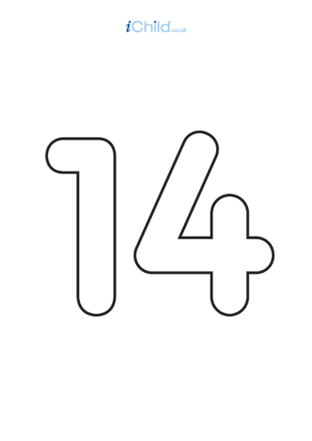 Thumbnail image for the 14: Poster - Number 14, Black & White activity.