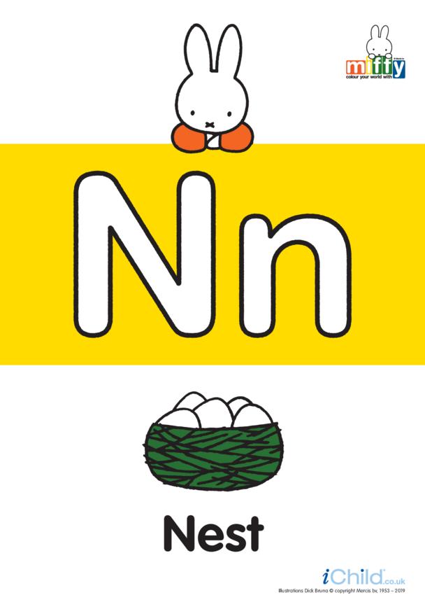 N: Miffy's Letter Nn