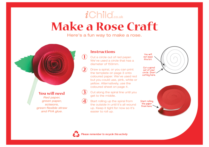 Thumbnail image for the Make a Rose Craft activity.