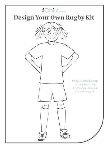 Thumbnail image for the Design your own rugby kit for a girl: Rugby World Cup activity.