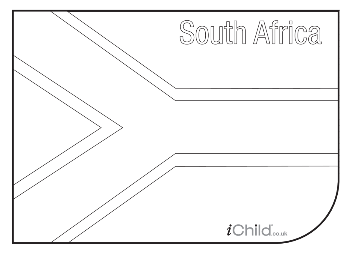 South African Flag Colouring in picture