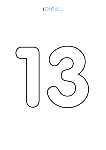 Thumbnail image for the 13: Poster - Number 13, Black & White activity.
