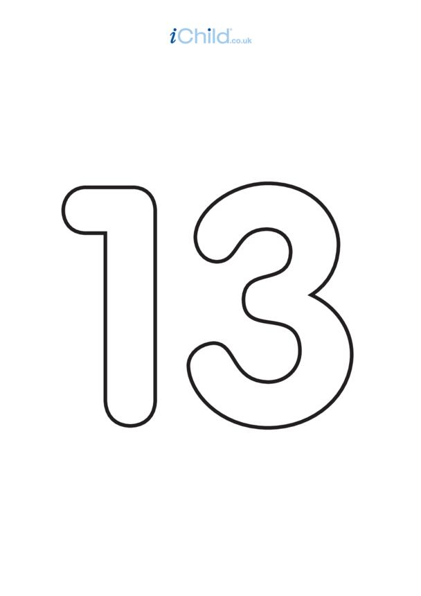 13: Poster - Number 13, Black & White