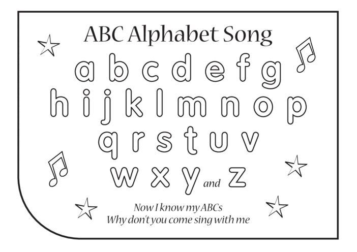 Thumbnail image for the ABC Song Lyrics (Alphabet Song Lyrics) activity.