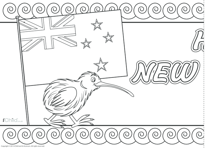 Thumbnail image for the New Zealand Day Banner activity.