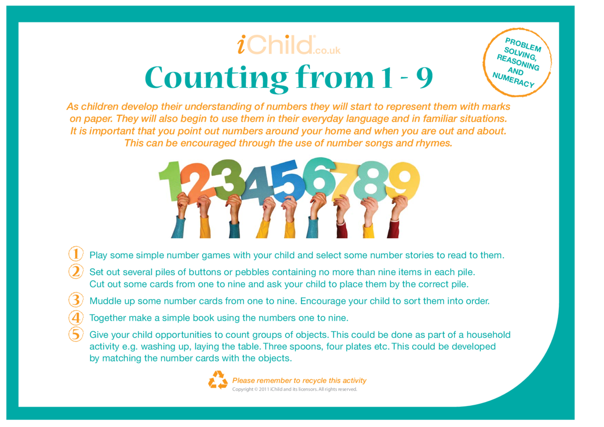 Counting From 1-9