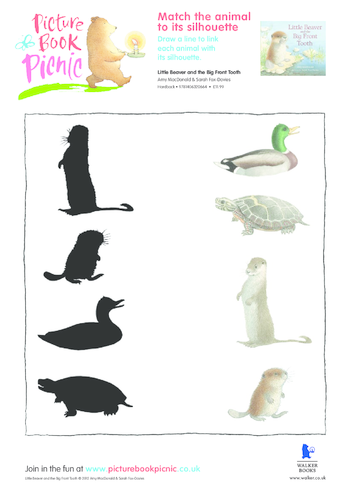 Thumbnail image for the Little Beaver: Matching Silhouette activity.