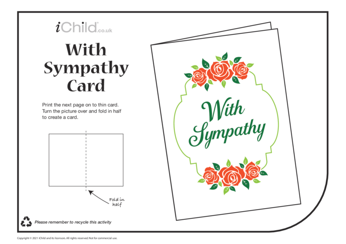 Thumbnail image for the Sympathy Card with Roses activity.