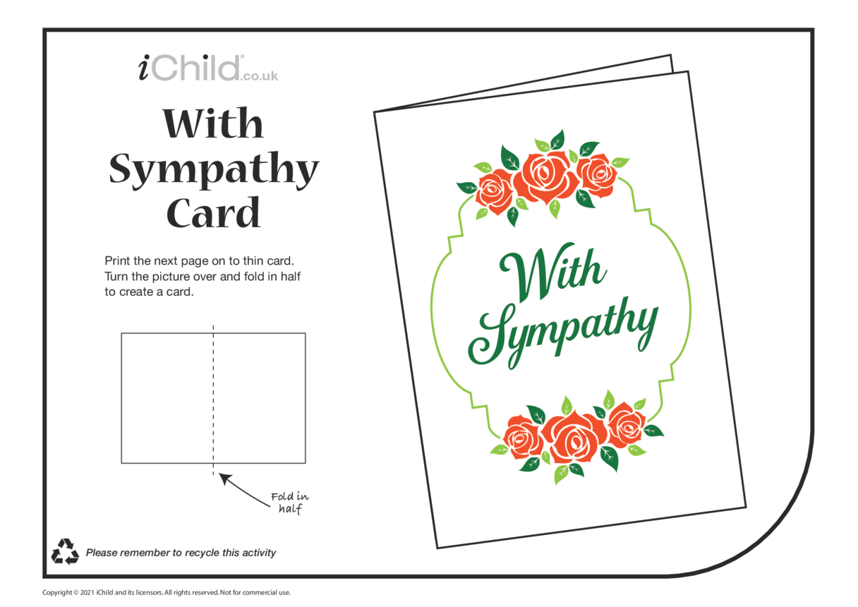 Sympathy Card with Roses