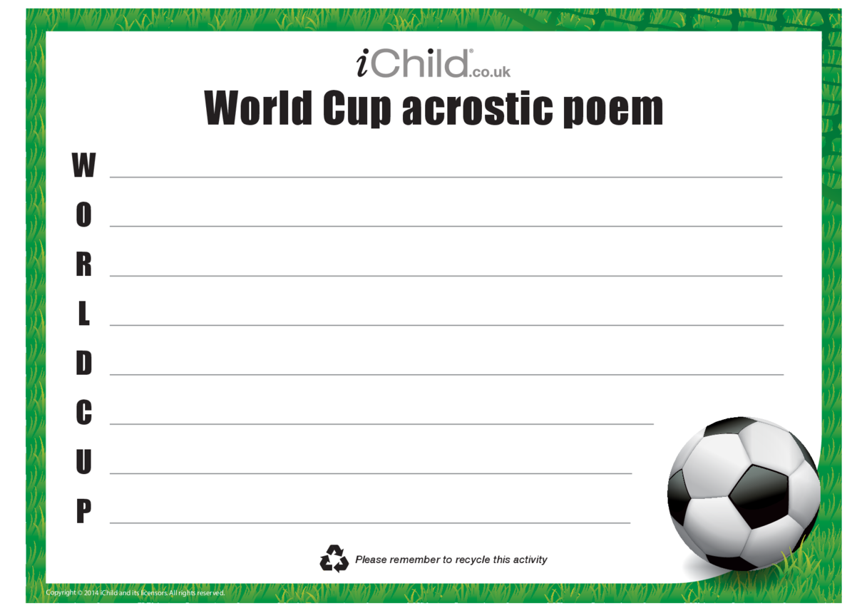 World Cup Acrostic Poem