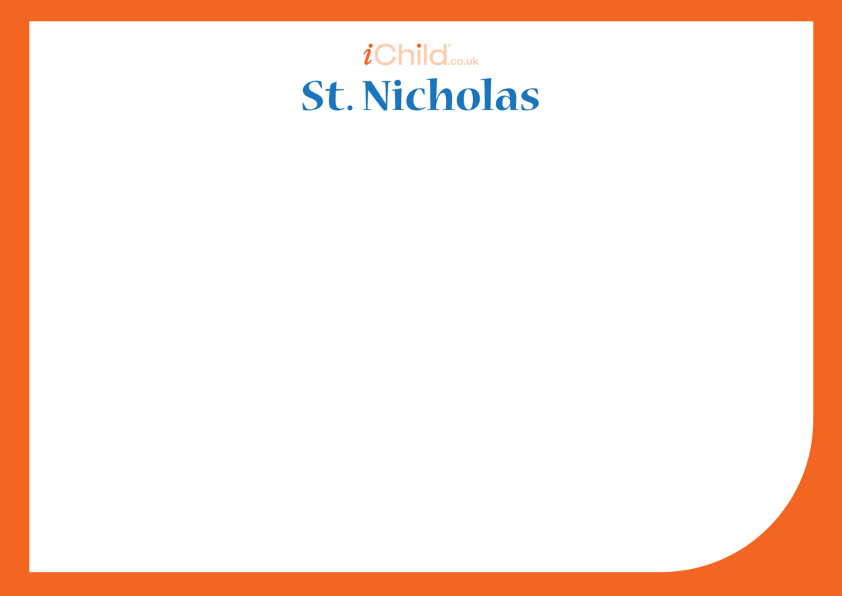 St. Nicholas Blank Drawing Template