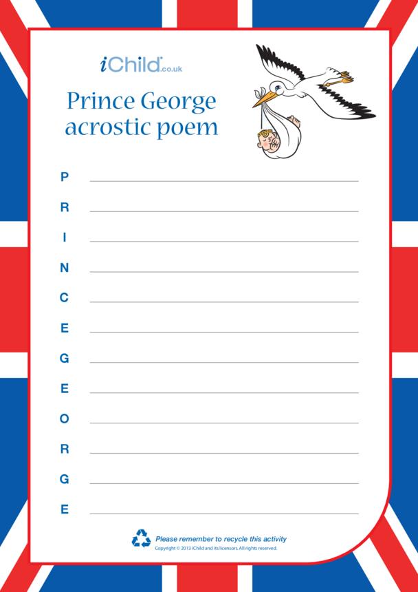 Prince George Acrostic Poem
