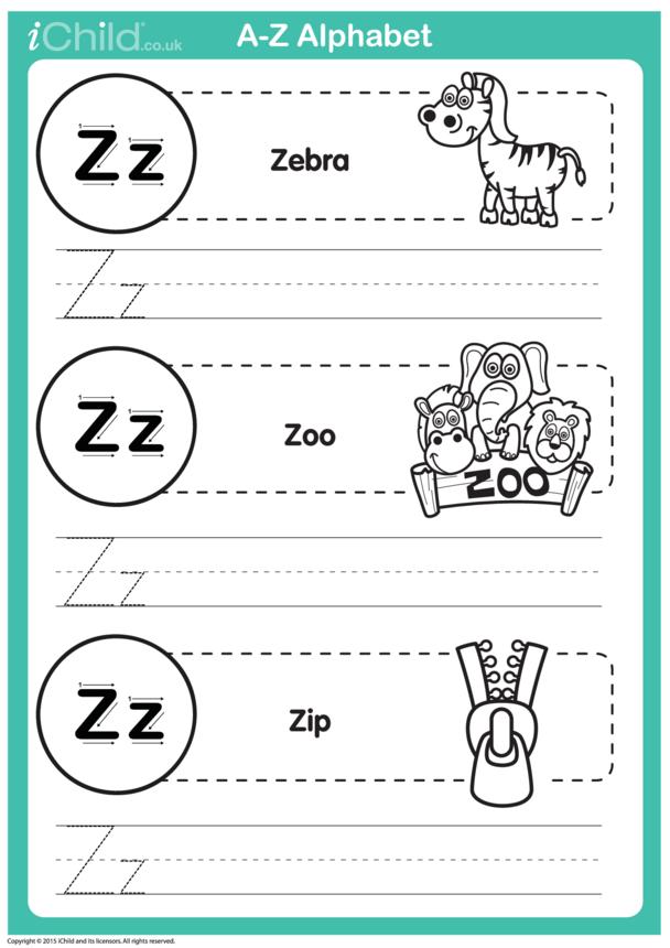 Z: Write the Letter Z