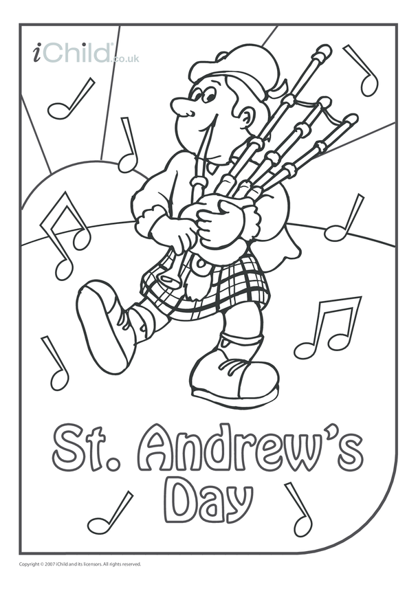 St. Andrew's Day Colouring in picture