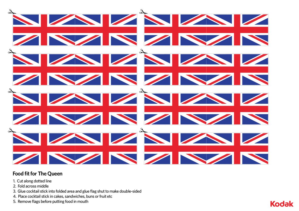 Kodak Queen's Official Birthday Cake Flags