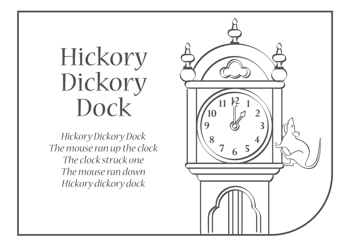 Thumbnail image for the Hickory Dickory Dock Lyrics activity.