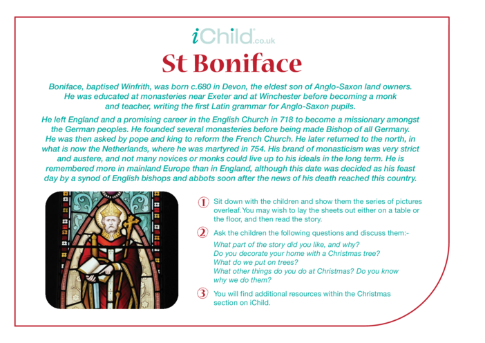 Thumbnail image for the St. Boniface Religious Festival Story activity.