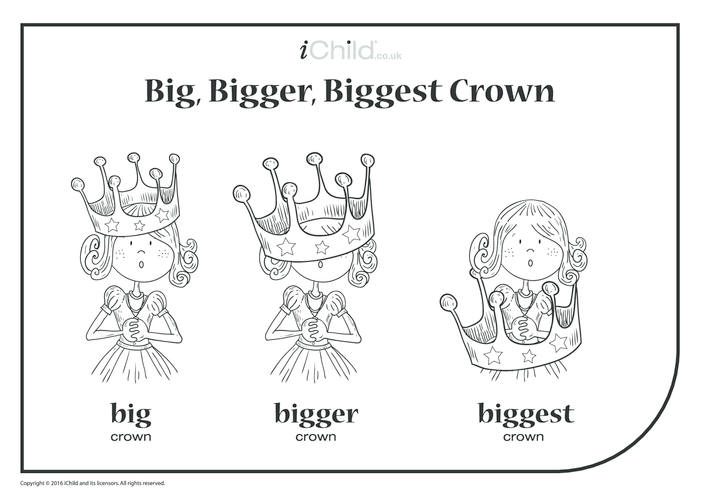 Thumbnail image for the Big, Bigger, Biggest Crown activity.
