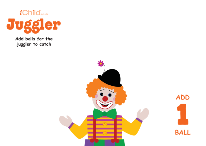 Thumbnail image for the Play Dough Counting Mats: Juggler activity.