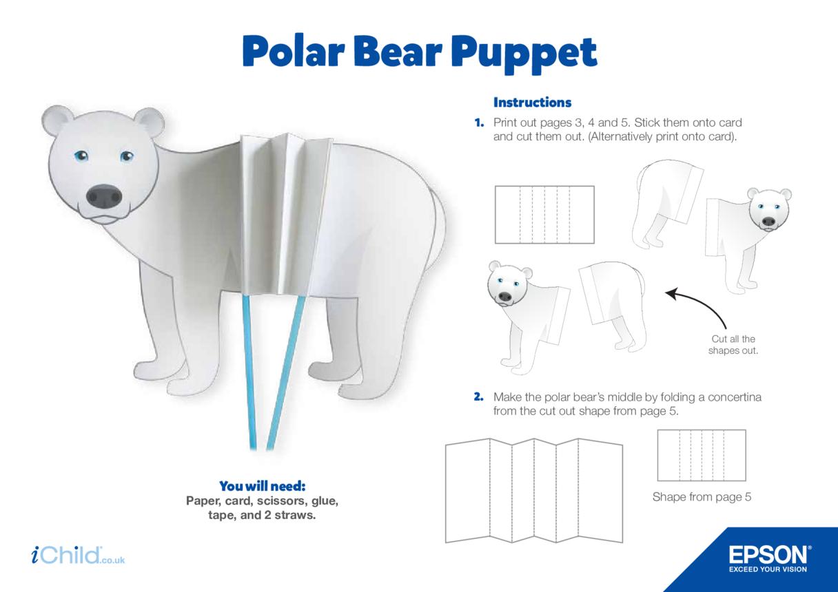 Epson Polar Bear Concertina Puppet Craft