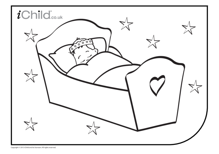 Thumbnail image for the Royal Baby Colouring in Picture activity.