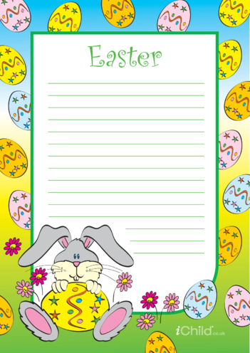 Thumbnail image for the Easter Lined Writing Paper Template activity.