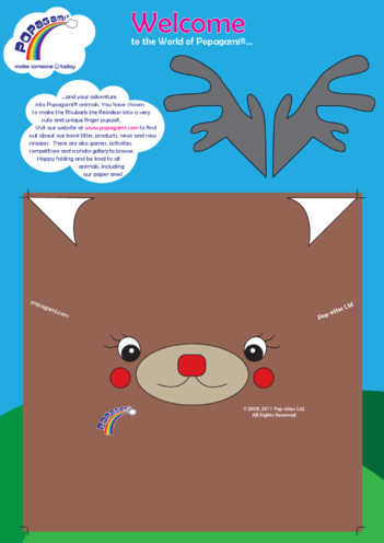 Thumbnail image for the Origami/Popagami Reindeer activity.
