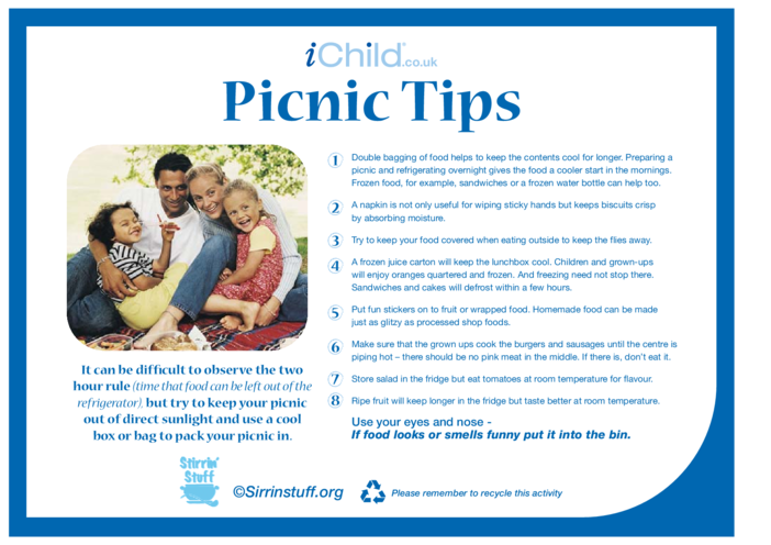 Thumbnail image for the Picnic Tips activity.