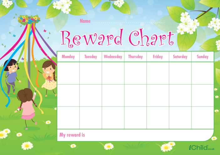 Thumbnail image for the May Day Reward Chart activity.