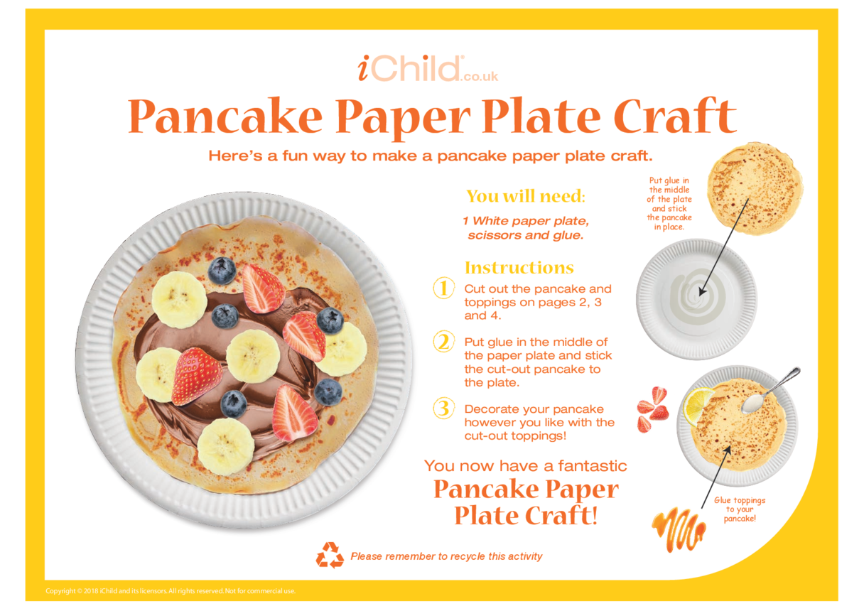 Pancake Paper Plate Craft