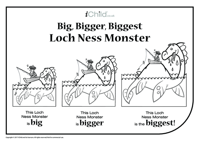 Thumbnail image for the Big, Bigger, Biggest Loch Ness Monster activity.