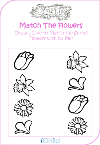 Thumbnail image for the Spring Matching Flower Fun activity.