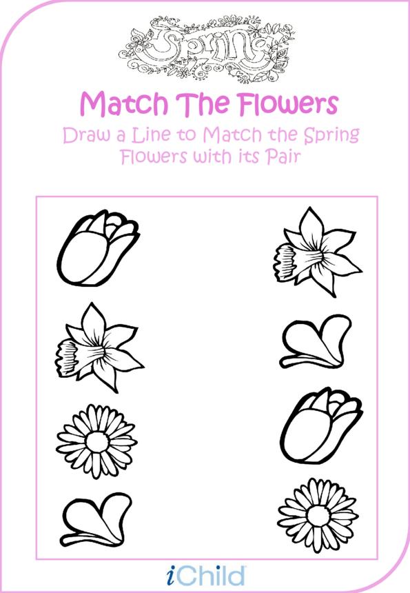 Spring Matching Flower Fun