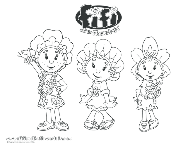 Thumbnail image for the Fifi and Primrose Colouring in picture activity.