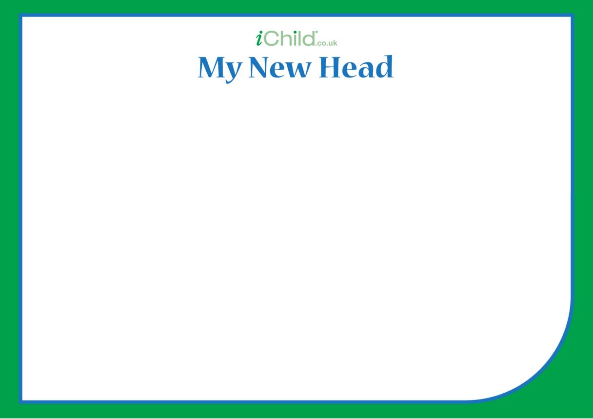 'My New Head' Ganesha Blank Drawing Template