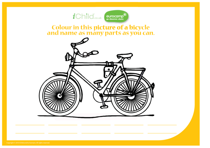 Thumbnail image for the Bicycle Activity Sheet activity.